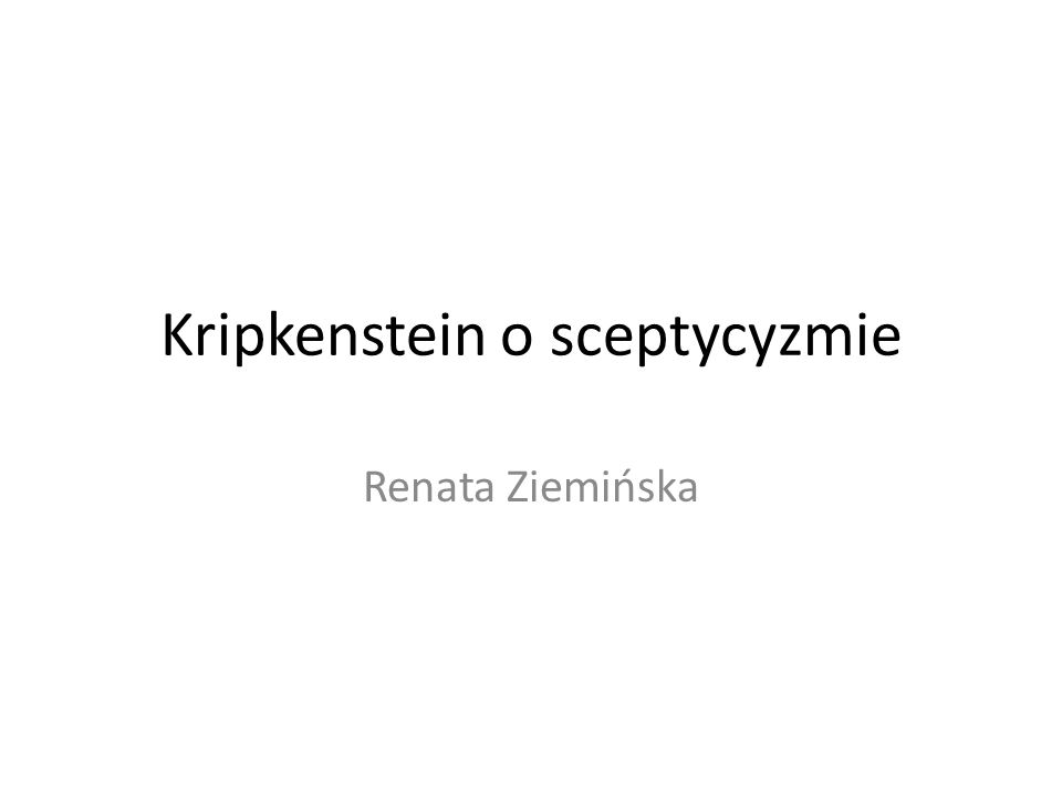 Kripkenstein o sceptycyzmie