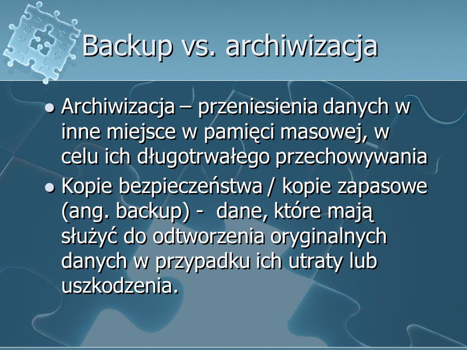 Backup vs. archiwizacja