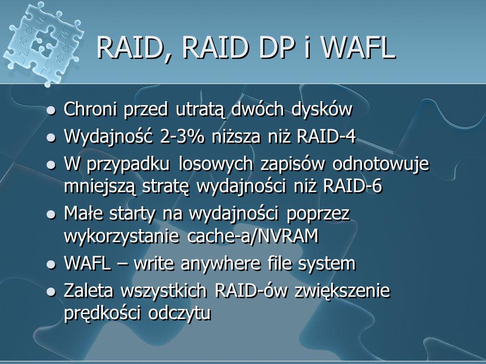 RAID, RAID DP i WAFL Chroni przed utratą dwóch dysków