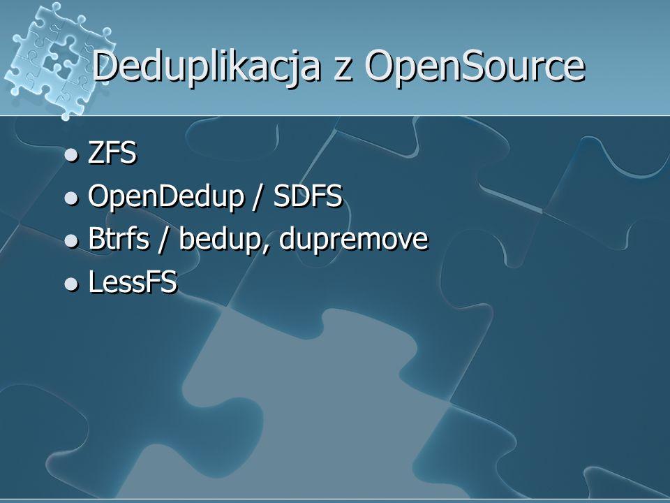 Deduplikacja z OpenSource