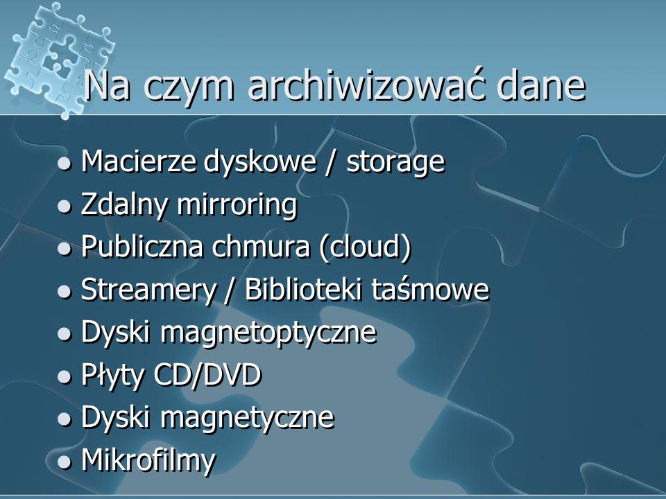 Na czym archiwizować dane