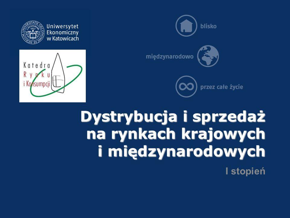 Dystrybucja i sprzedaż na rynkach krajowych i międzynarodowych