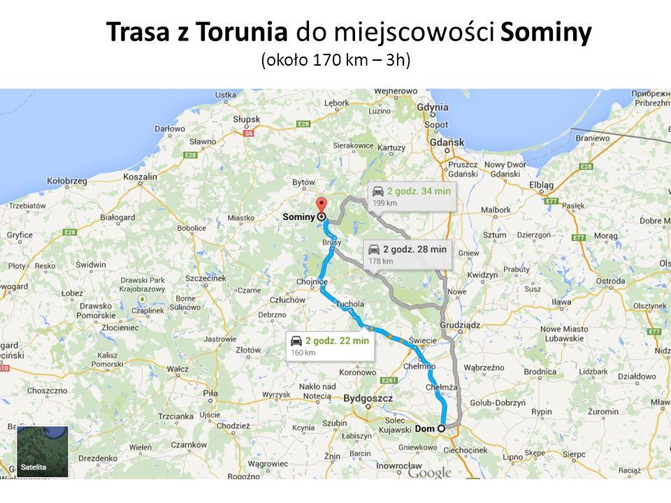 Trasa z Torunia do miejscowości Sominy