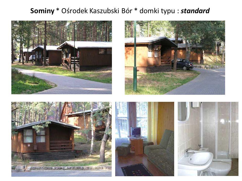 Sominy * Ośrodek Kaszubski Bór * domki typu : standard