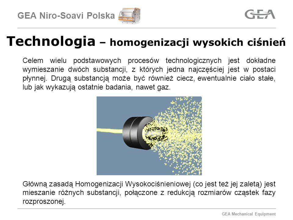 Technologia – homogenizacji wysokich ciśnień