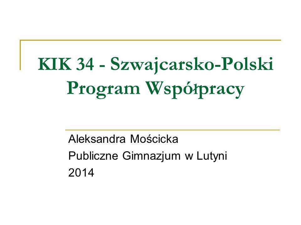 KIK 34 - Szwajcarsko-Polski Program Współpracy