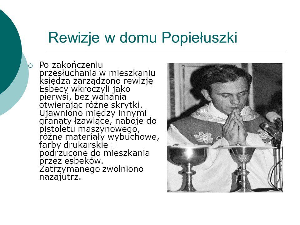 Rewizje w domu Popiełuszki