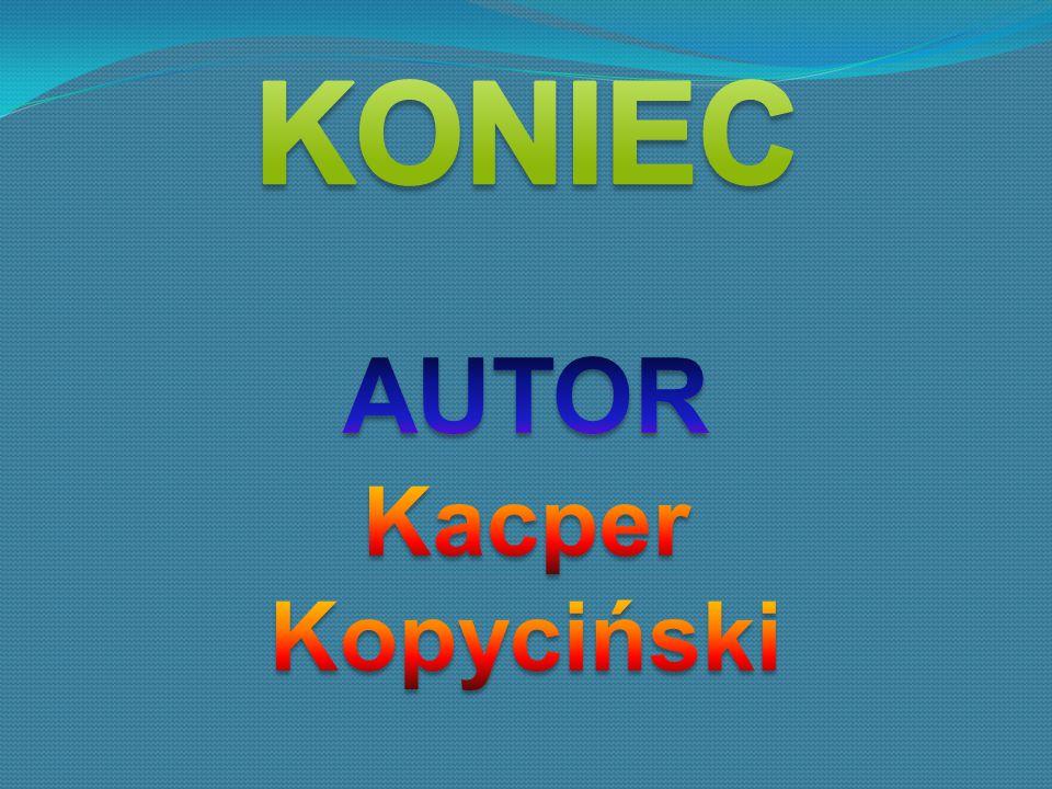 KONIEC AUTOR Kacper Kopyciński