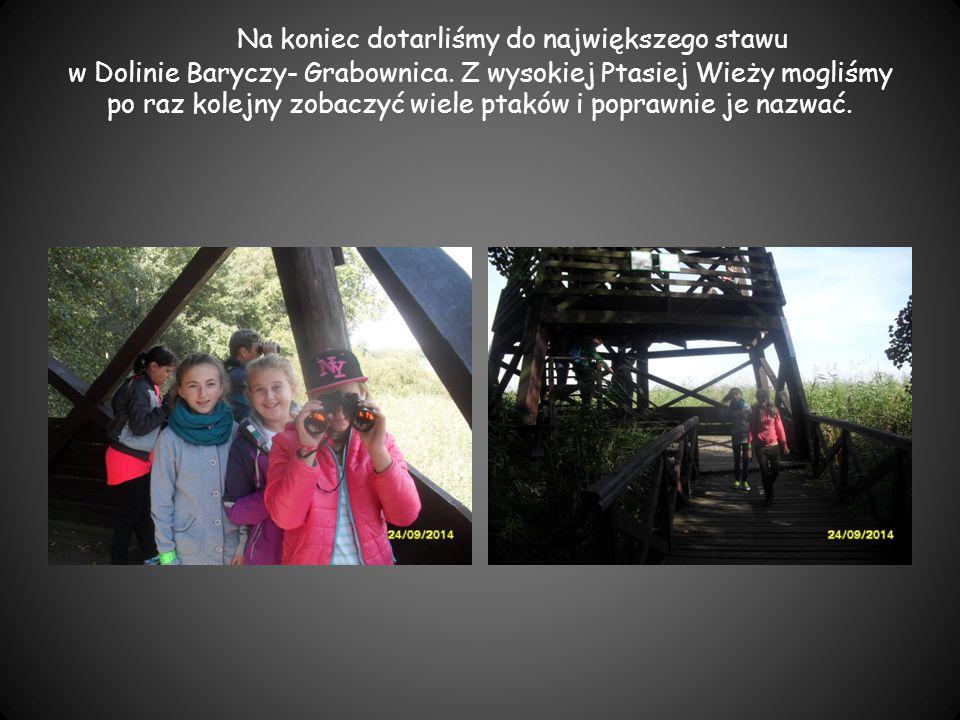 Na koniec dotarliśmy do największego stawu w Dolinie Baryczy- Grabownica.