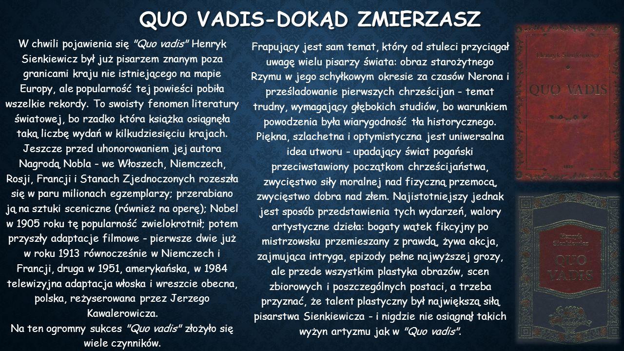 Quo vadis-Dokąd zmierzasz