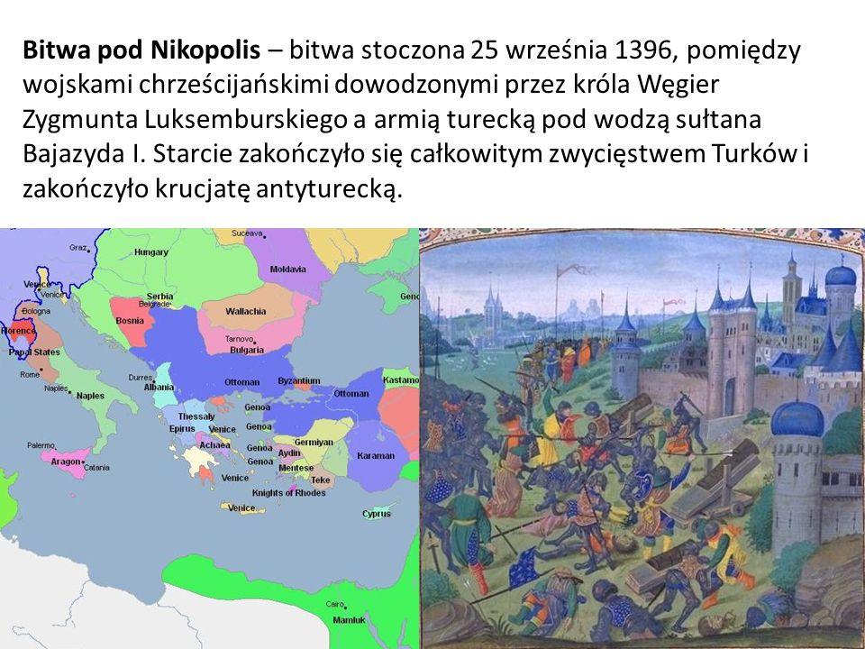 Bitwa pod Nikopolis – bitwa stoczona 25 września 1396, pomiędzy wojskami chrześcijańskimi dowodzonymi przez króla Węgier Zygmunta Luksemburskiego a armią turecką pod wodzą sułtana Bajazyda I.