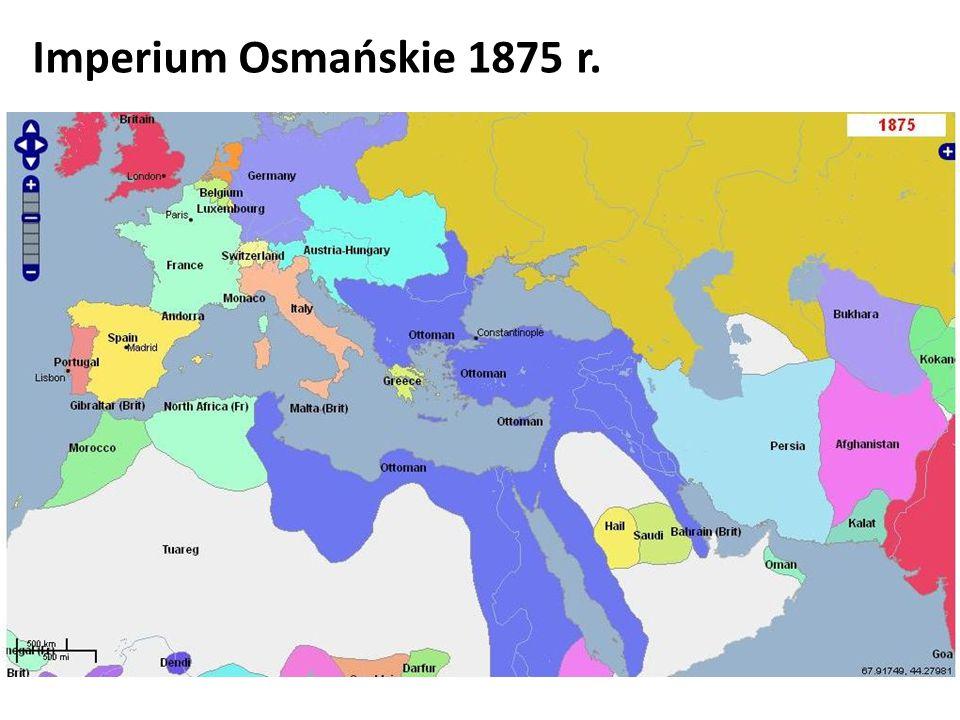 Imperium Osmańskie 1875 r.