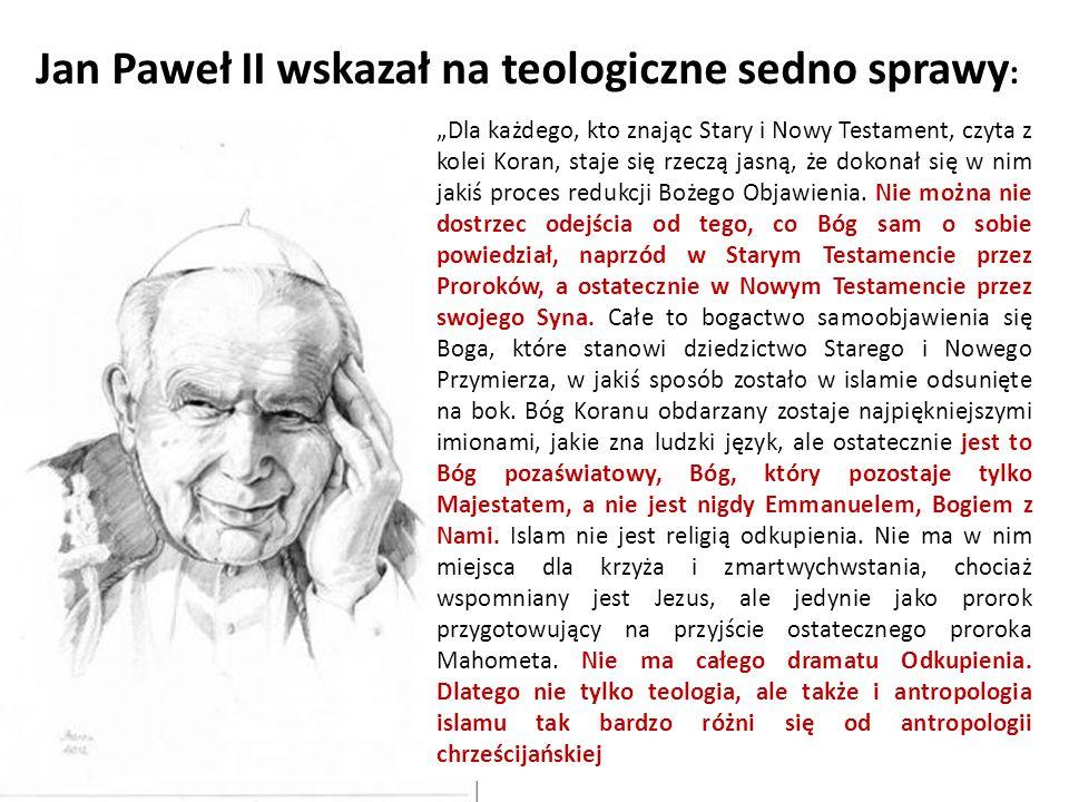 Jan Paweł II wskazał na teologiczne sedno sprawy: