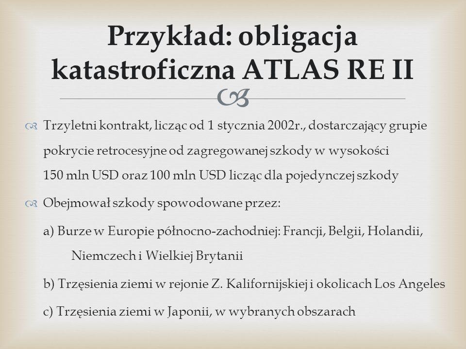 Przykład: obligacja katastroficzna ATLAS RE II