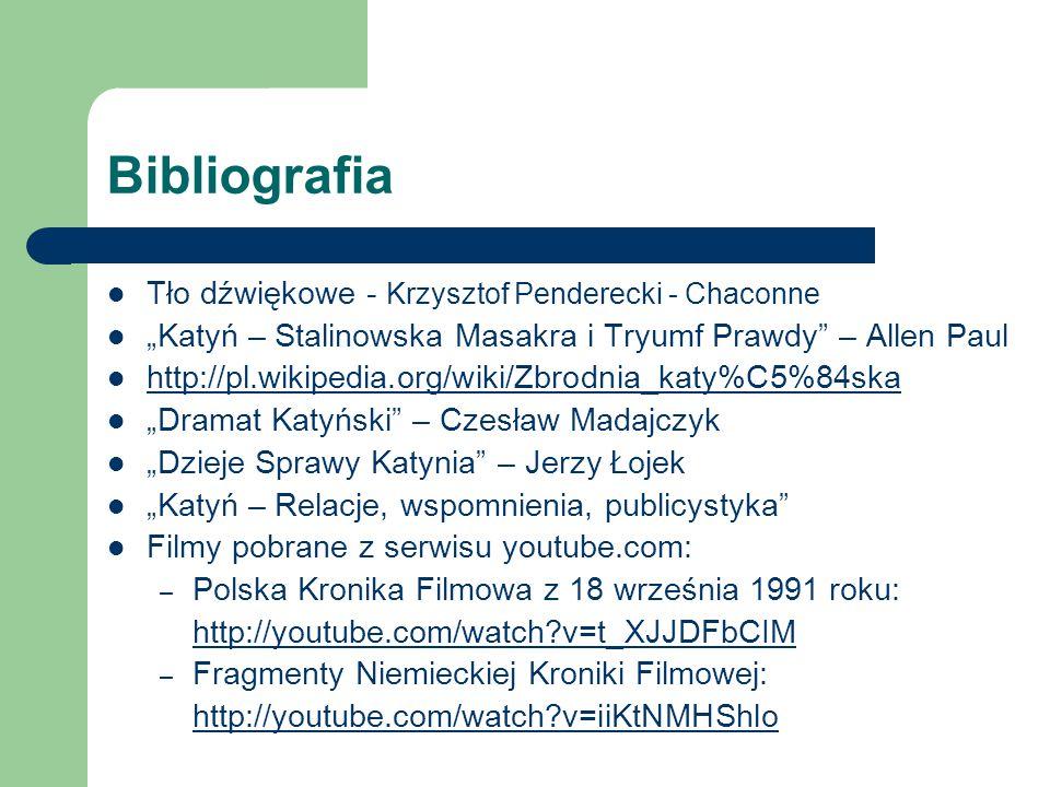 Bibliografia Tło dźwiękowe - Krzysztof Penderecki - Chaconne