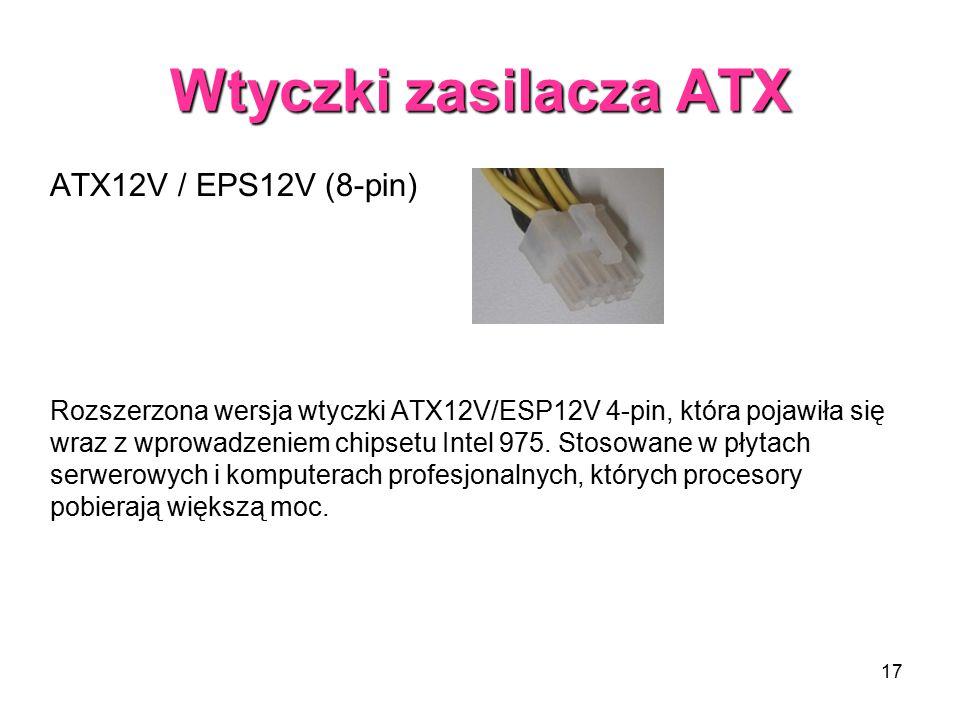 Wtyczki zasilacza ATX ATX12V / EPS12V (8-pin)
