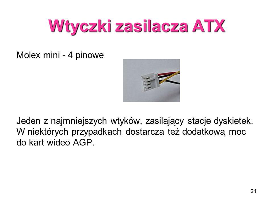 Wtyczki zasilacza ATX Molex mini - 4 pinowe