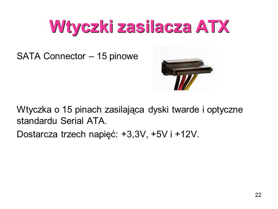Wtyczki zasilacza ATX SATA Connector – 15 pinowe