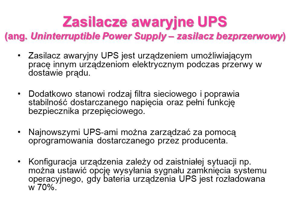 Zasilacze awaryjne UPS (ang