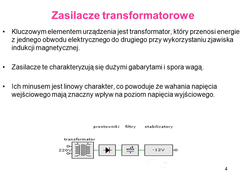 Zasilacze transformatorowe
