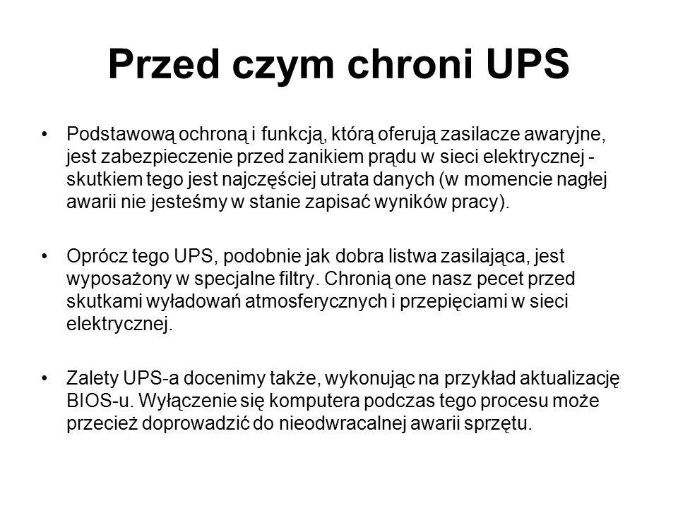 Przed czym chroni UPS
