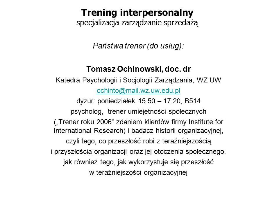 Trening interpersonalny specjalizacja zarządzanie sprzedażą