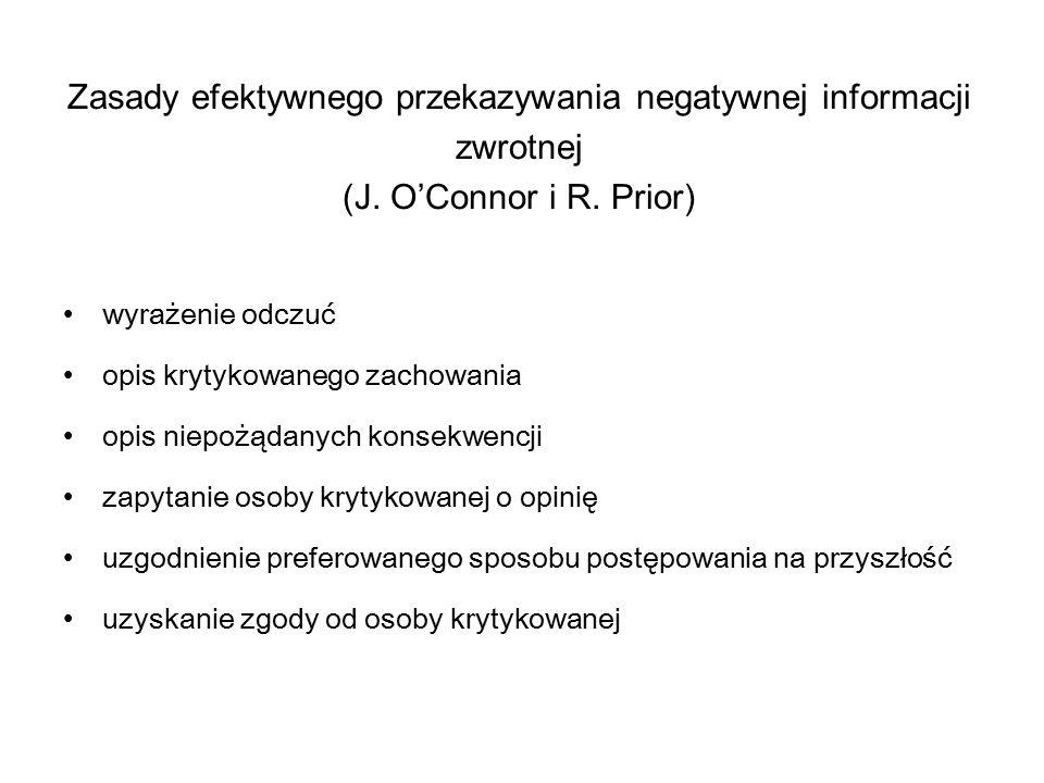Zasady efektywnego przekazywania negatywnej informacji zwrotnej (J