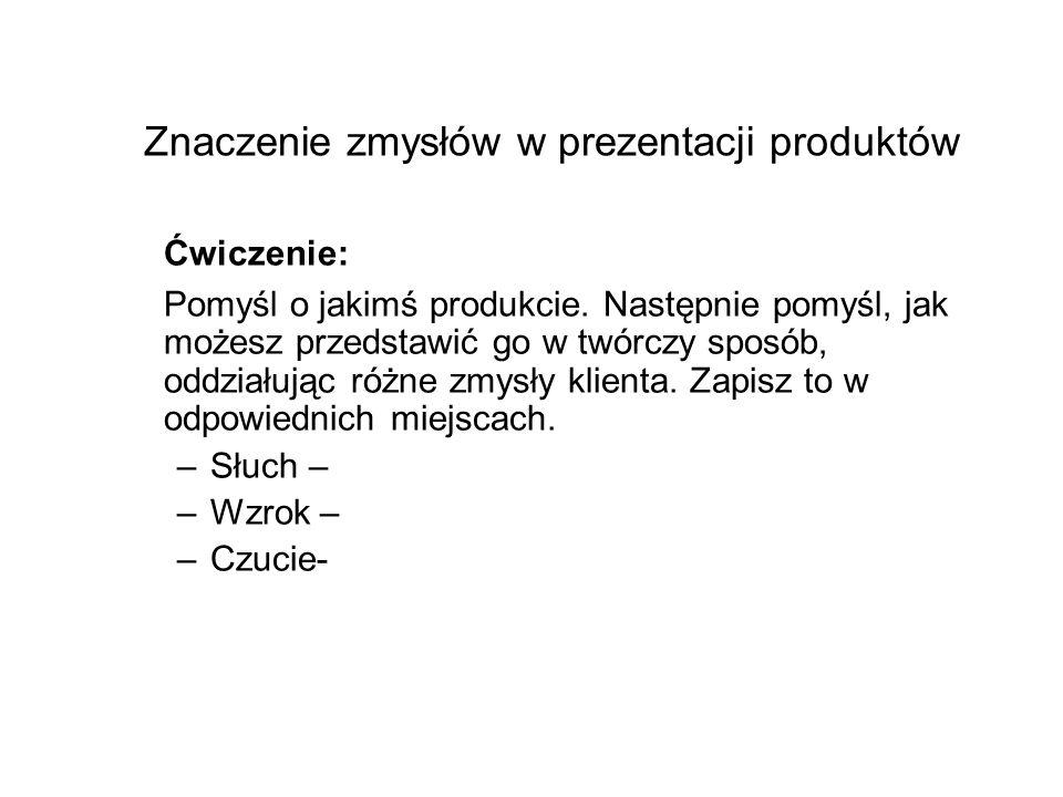 Znaczenie zmysłów w prezentacji produktów