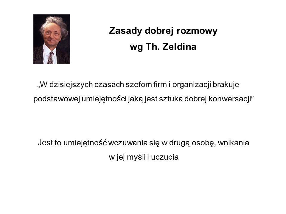 Zasady dobrej rozmowy wg Th. Zeldina