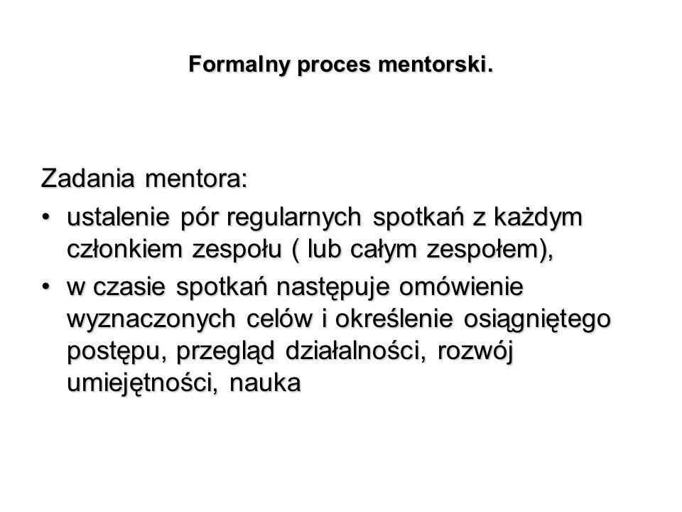 Formalny proces mentorski.