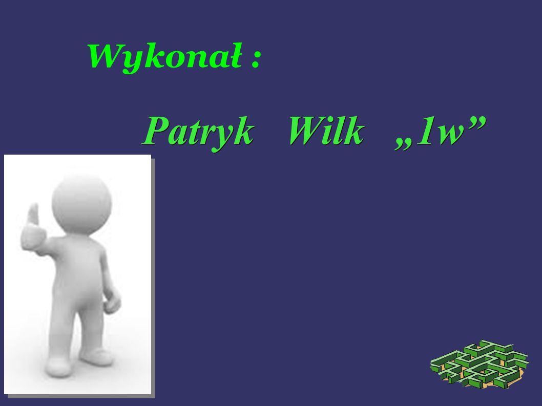 """Wykonał : Patryk Wilk """"1w"""