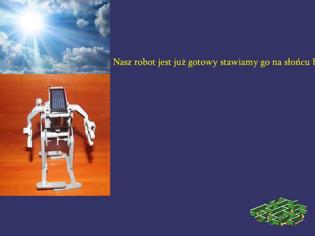 Nasz robot jest już gotowy stawiamy go na słońcu by naładowała się jego bateria.