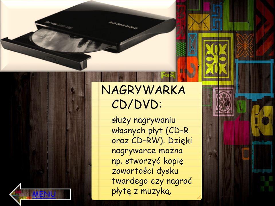 NAGRYWARKA CD/DVD: