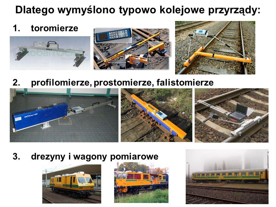 Dlatego wymyślono typowo kolejowe przyrządy: