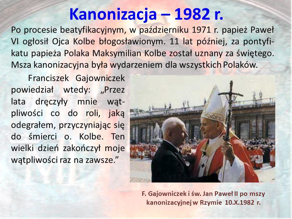 Kanonizacja – 1982 r.