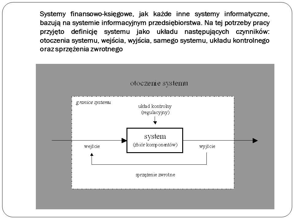 Systemy finansowo-księgowe, jak każde inne systemy informatyczne, bazują na systemie informacyjnym przedsiębiorstwa.