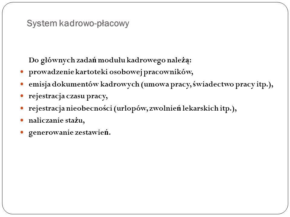 System kadrowo-płacowy
