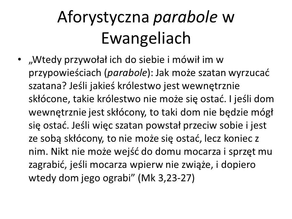Aforystyczna parabole w Ewangeliach