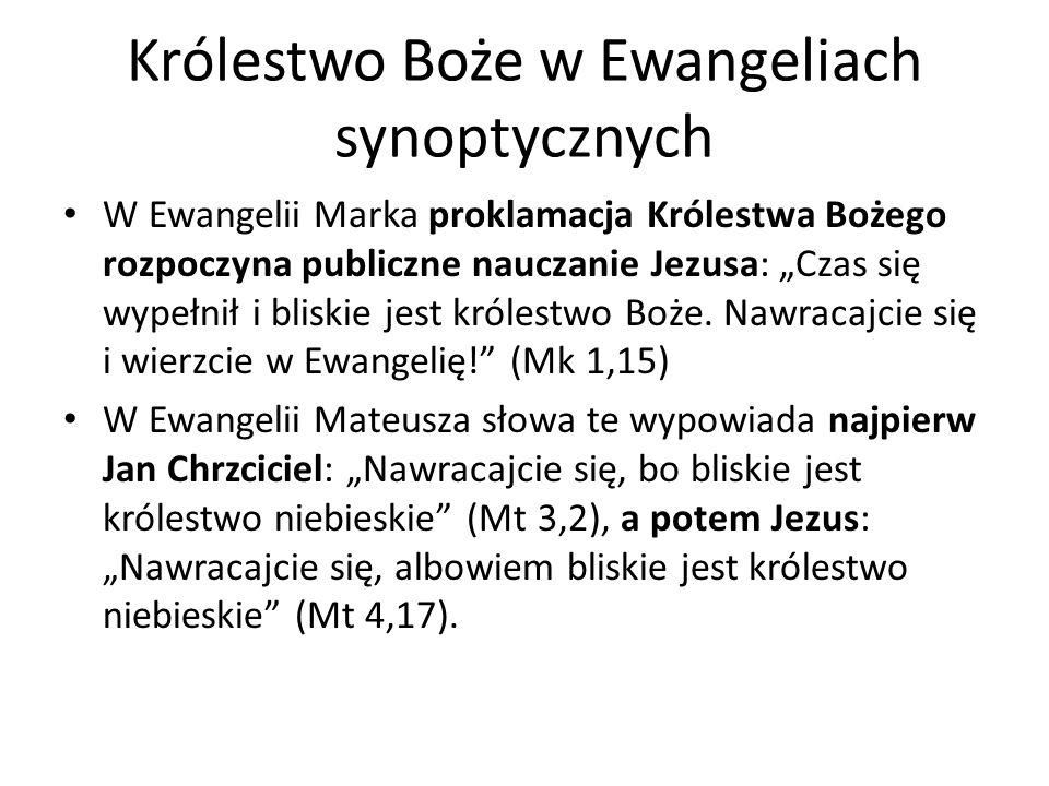 Królestwo Boże w Ewangeliach synoptycznych