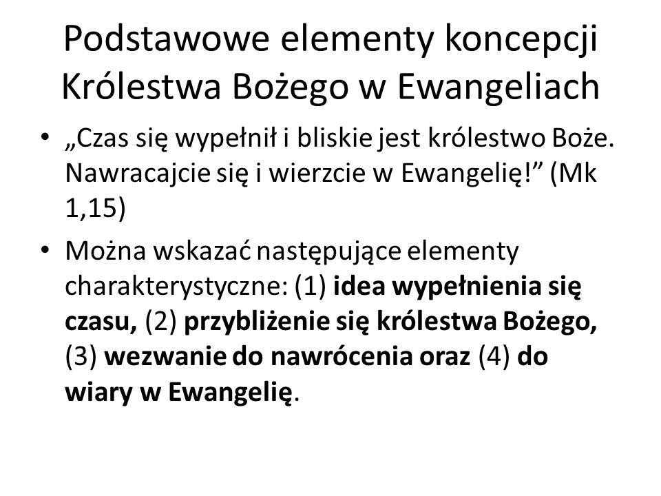 Podstawowe elementy koncepcji Królestwa Bożego w Ewangeliach