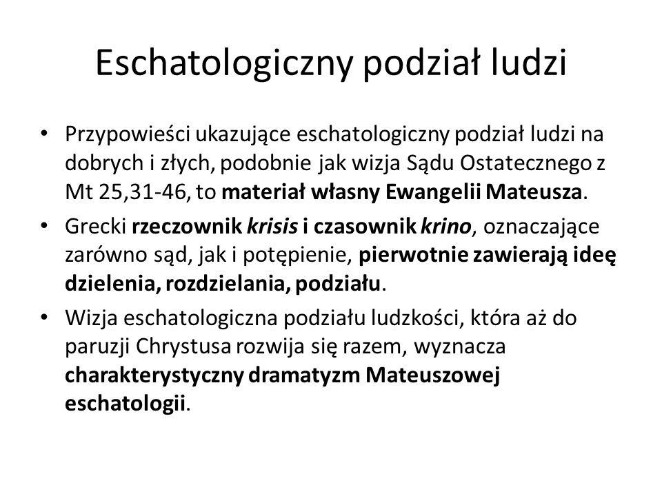Eschatologiczny podział ludzi