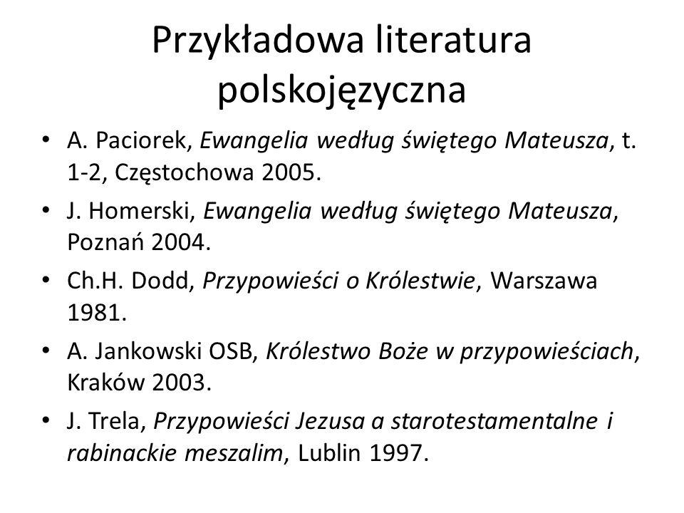 Przykładowa literatura polskojęzyczna