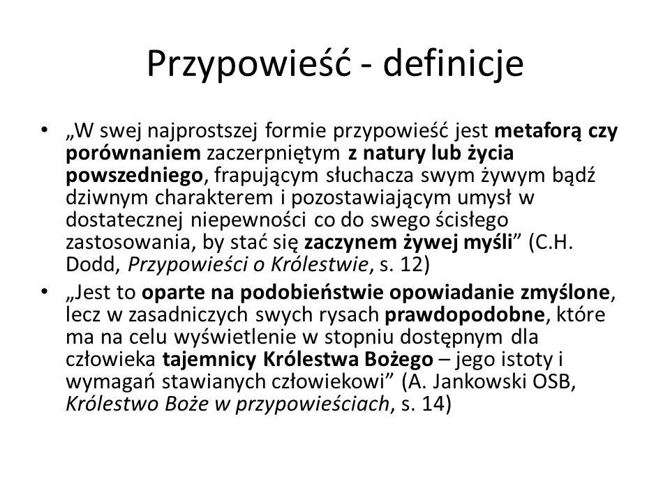 Przypowieść - definicje