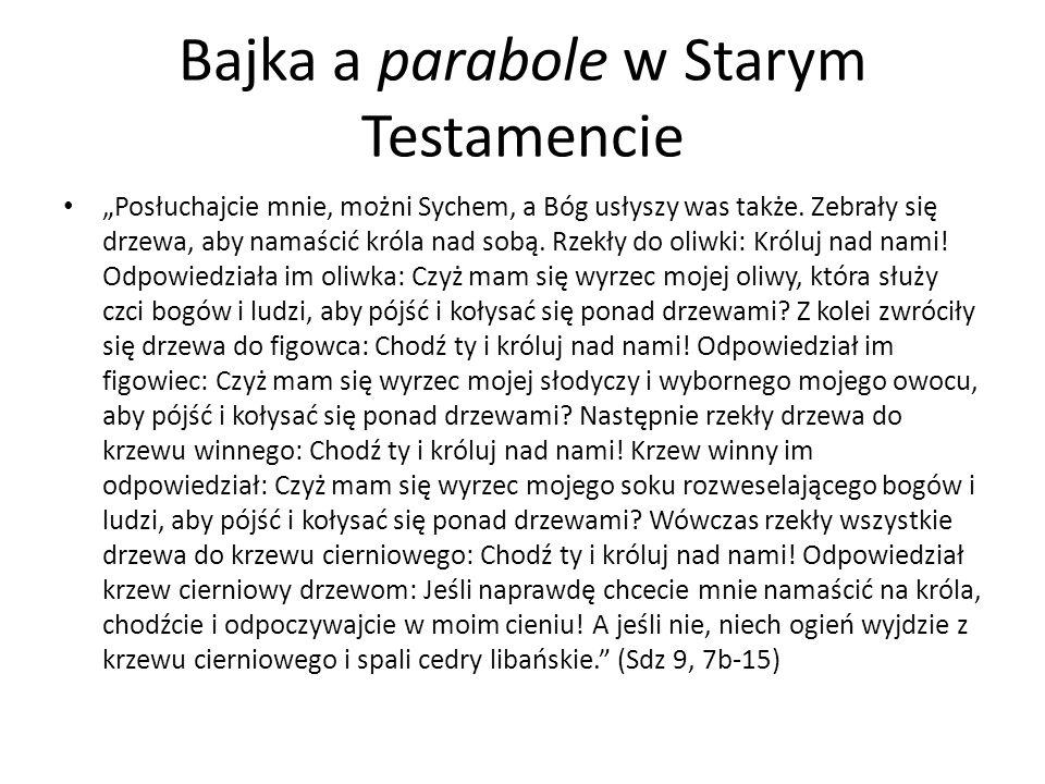 Bajka a parabole w Starym Testamencie