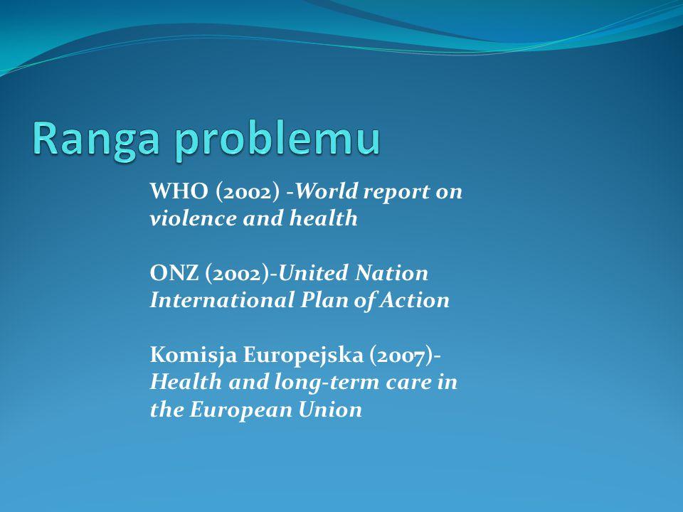 Ranga problemu WHO (2002) -World report on violence and health