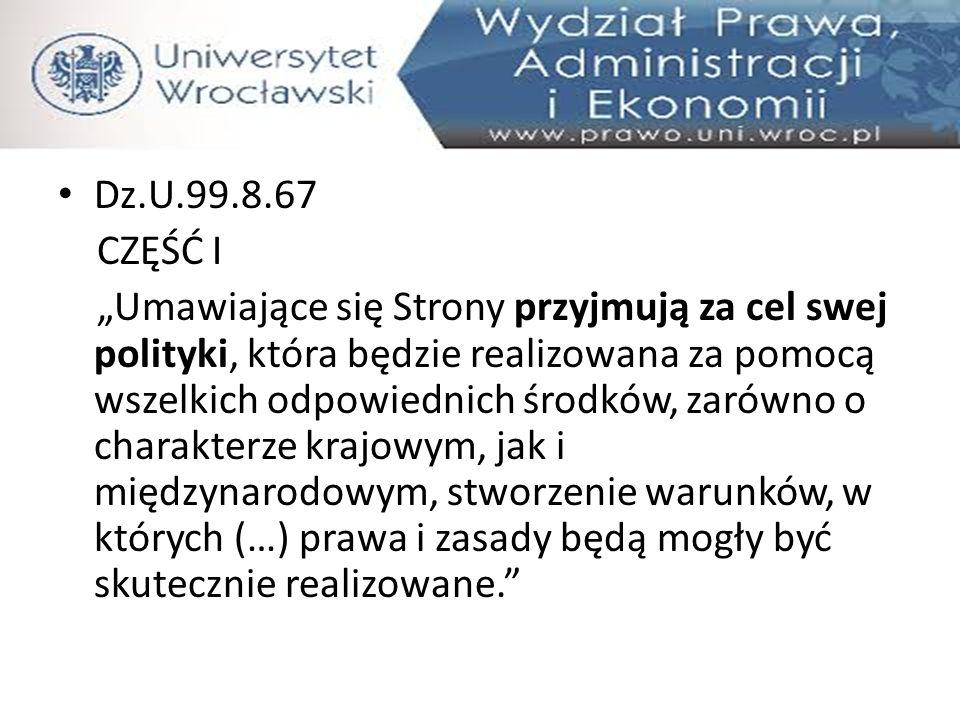 Dz.U.99.8.67 CZĘŚĆ I.