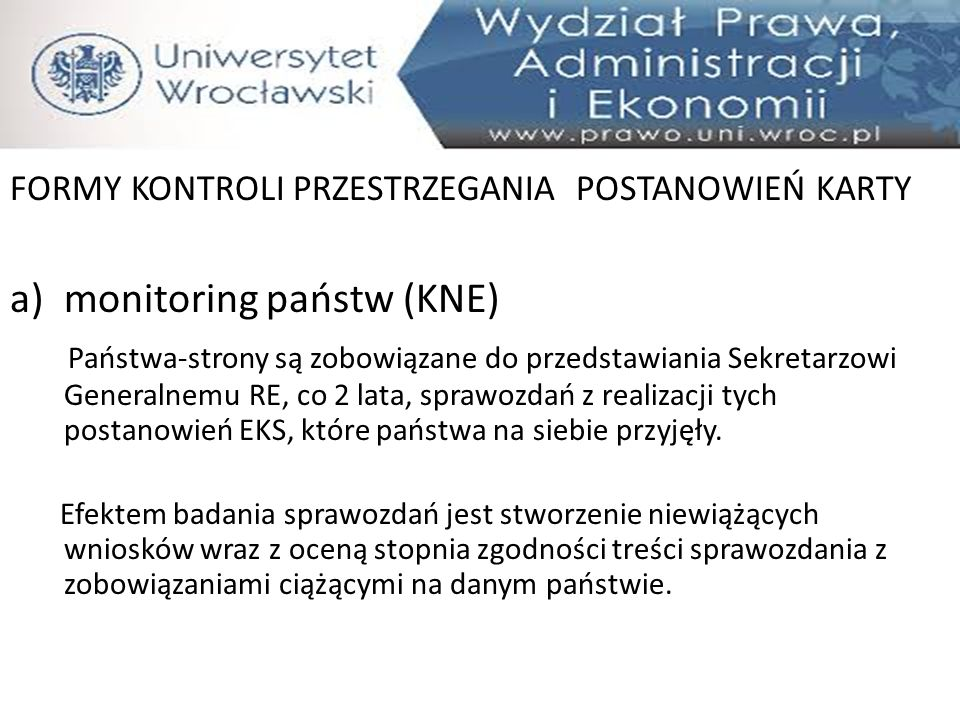 monitoring państw (KNE)