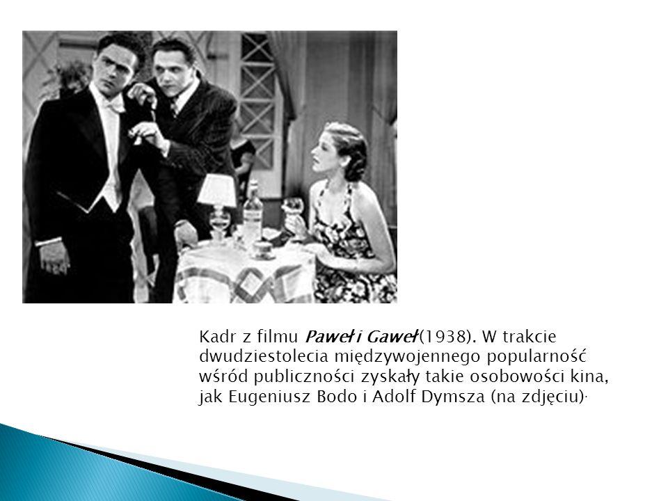 Kadr z filmu Paweł i Gaweł (1938)