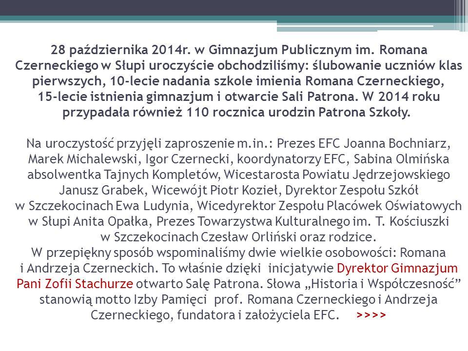 28 października 2014r. w Gimnazjum Publicznym im