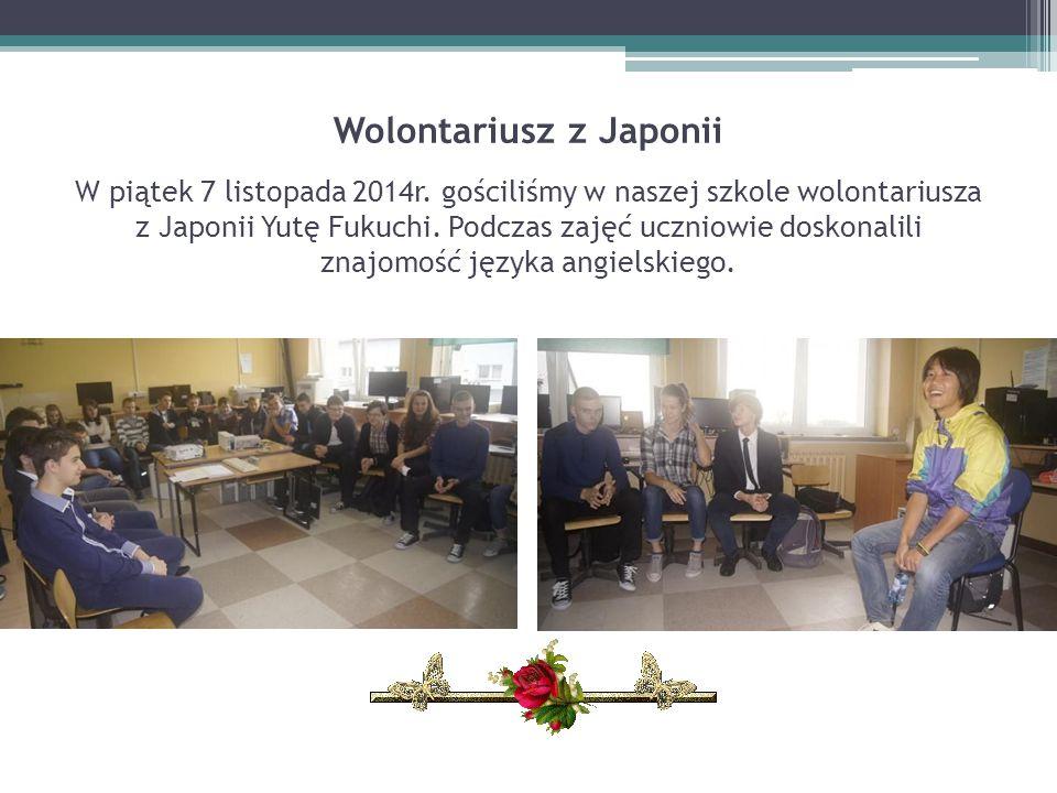 Wolontariusz z Japonii W piątek 7 listopada 2014r